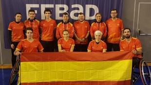 El equipo paralímpico español de bádminton.