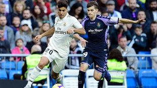 Asensio y toni Villa en el Bernabéu.