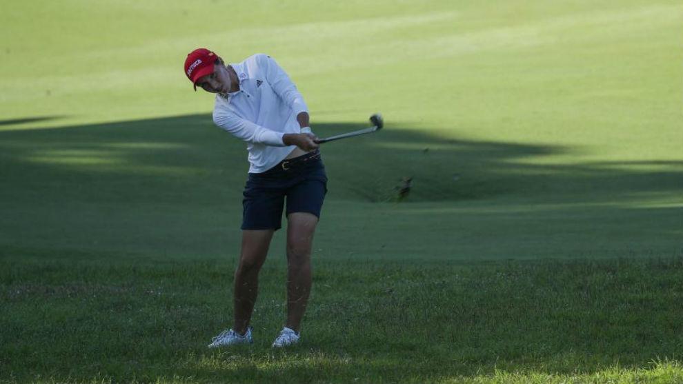 Carlota Ciganda durante un torneo en Taiwán.