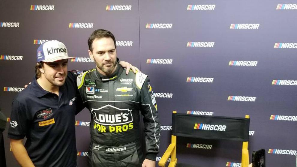 Fernando Alonso y Jimmie Johnson
