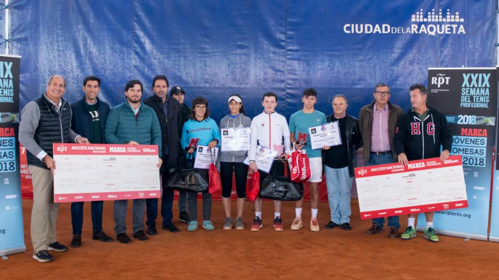 Campeones, finalistas y organización del Masters del XXIII Circuito...