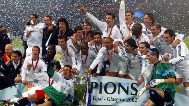 La plantilla blanca que logró la Champions en Glasgow