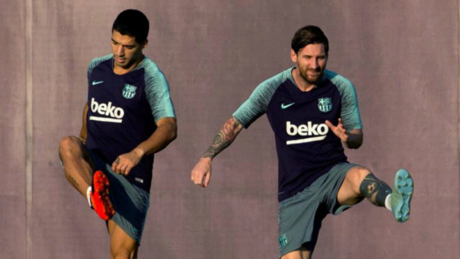 Lionel Messi trained by himself a day after Inter 1-1 Barcelona