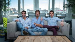 Pedro Clavería, CEO, Pablo Carro y Domingo Guzmán, fundadores de...