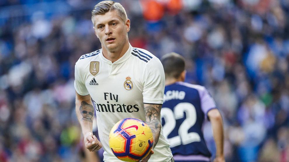 Kroos durante el partido contra el Real Valladolid.