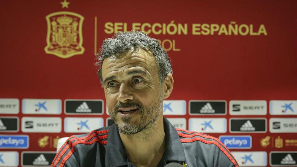 Luis Enrique, en una conferencia de Prensa.