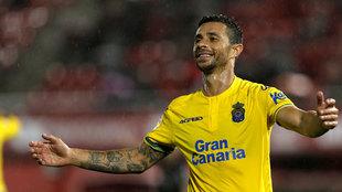 Rubén Castro en un partido con la UD Las Palmas.
