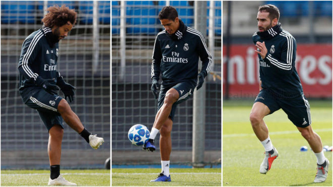 Marcelo Varane and Carvajal