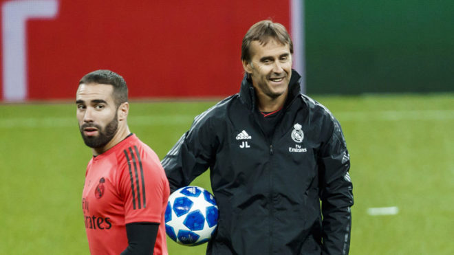 Dani Carvajal and Julen Lopetegui