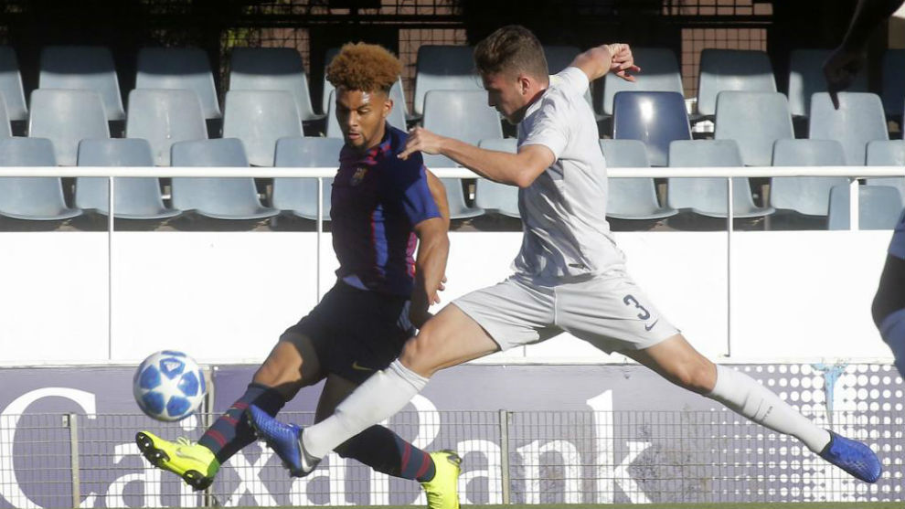 Konrad, en el partido de ida en el Mini entre Barça e Inter