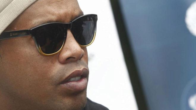Ronaldinho en una entrevista