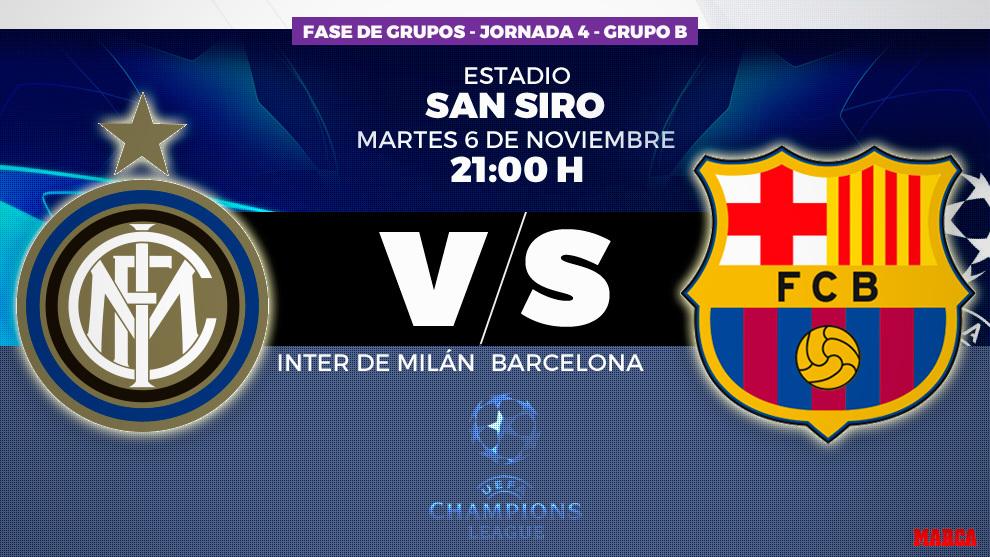 Champions League  Inter de Milán - FC Barcelona  horario y dónde ver ... 3cbdbf78fdc