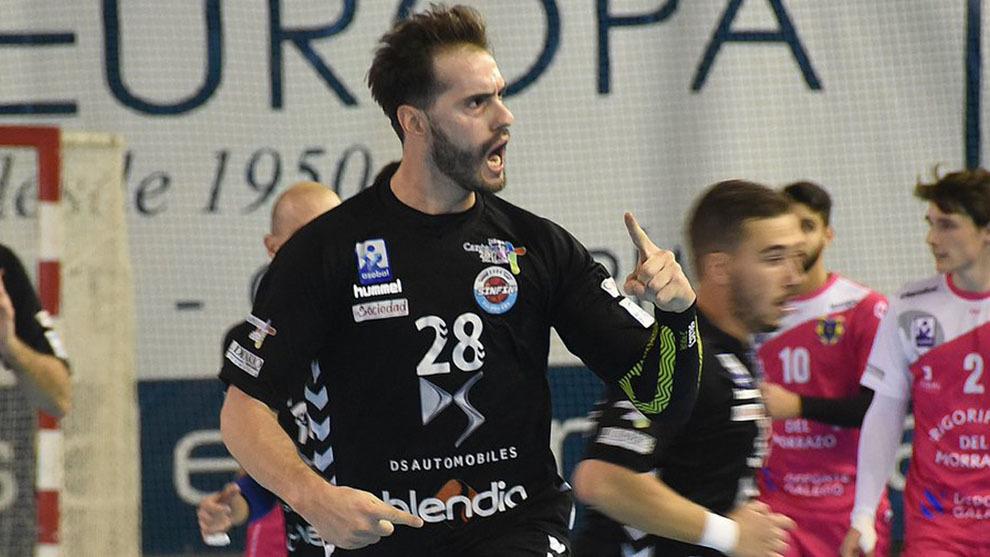 El portugués Jorge Silva celebra un gol