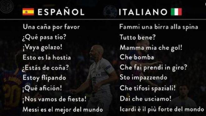 Champions League El Divertido Diccionario Español Italiano