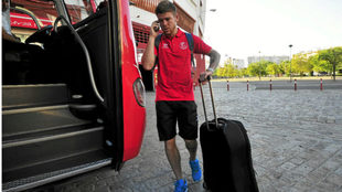 Alberto Moreno se sube al autobús del Sevilla.