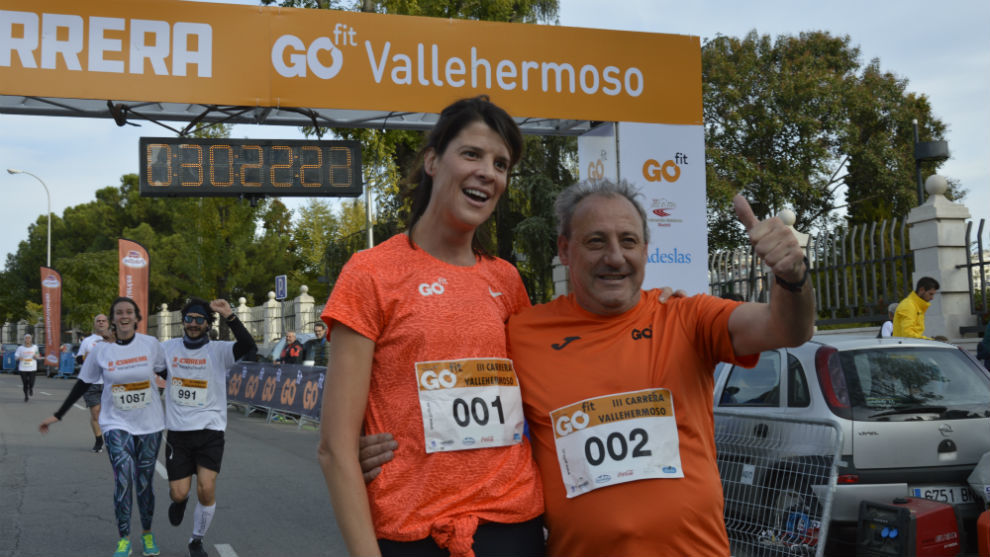 Ruth Baitia y Fermín Cacho en Vallehermoso.