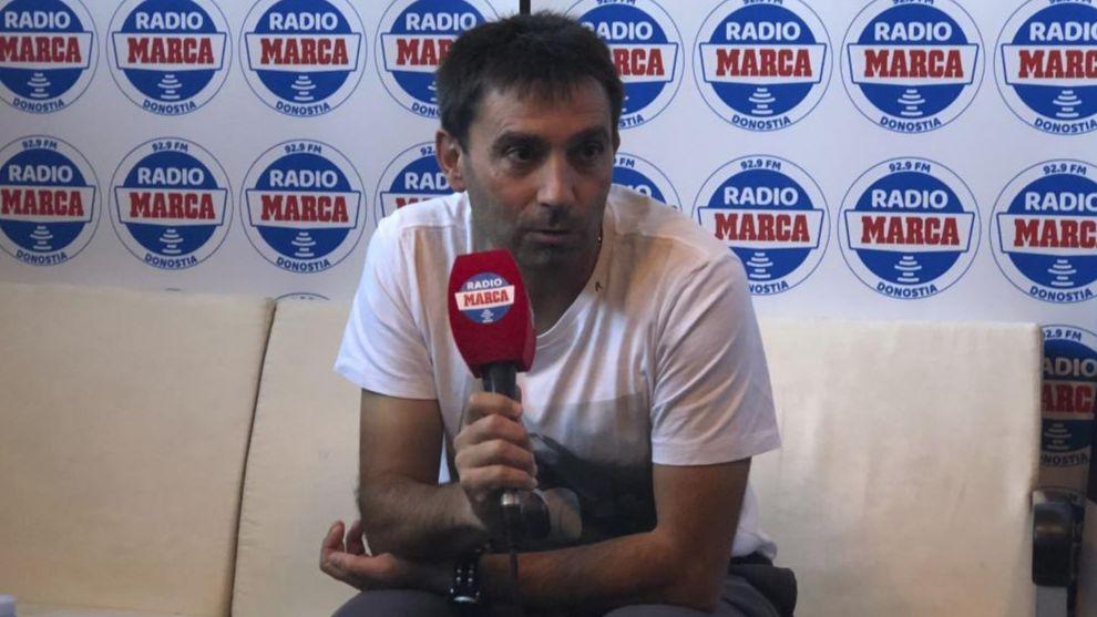 Asier Garitano, en una entrevista con Radio MARCA Donostia.