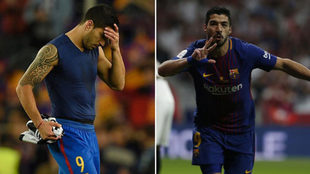 La doble cara del gol de Luís Suarez, Champions vs Liga