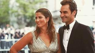 Mirka y Roger Federer
