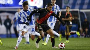 Óscar Trejo, durante un partido frente al Leganés