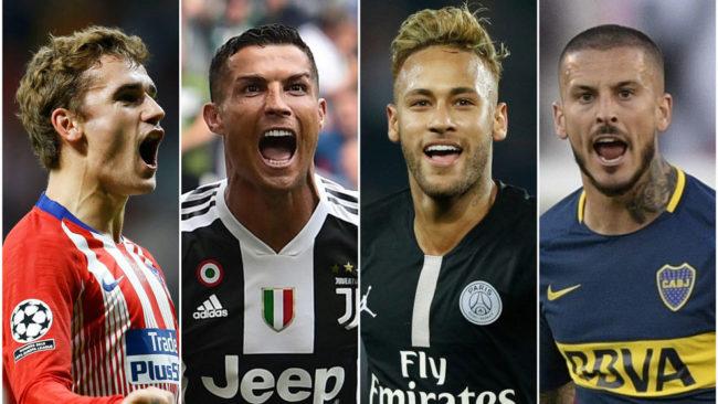 Giezmann, Ronaldo, Neymar y Benedetto.