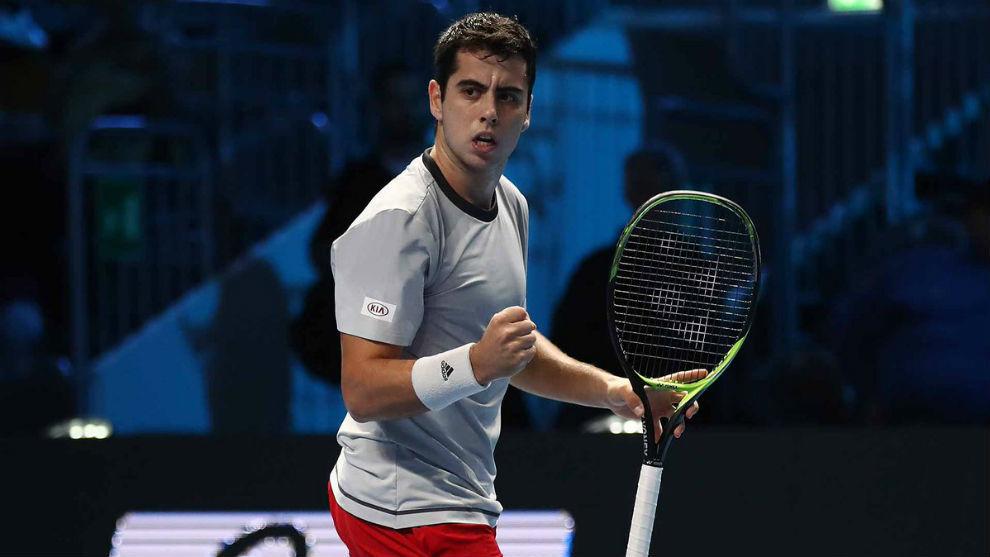 Jaume Munar durante su estreno en las Next Gen ATP Finals.