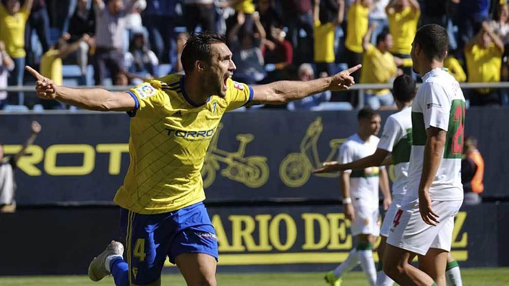Correa celebra su gol al Elche el pasado domingo