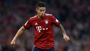James, en un partido con el Bayern.