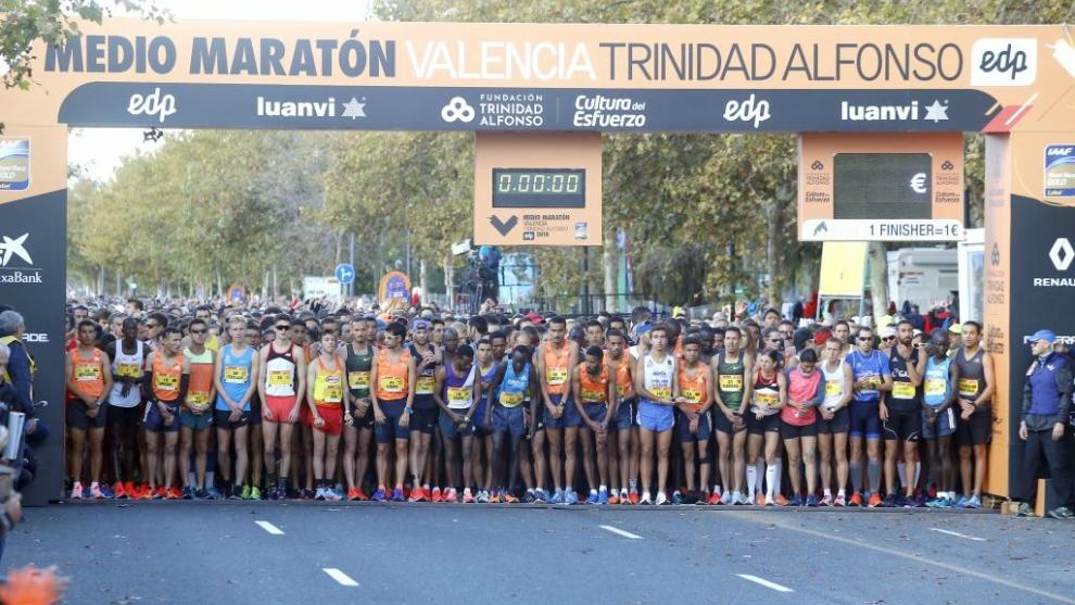 Salida del Medio Maratón de Valencia del pasado 28 de octubre.