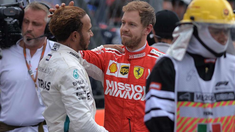 Vettel y Hamilton, en México