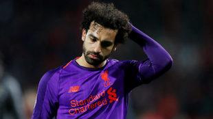 Salah se lamenta tras la derrota
