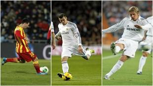 Leo Messi, GarethBale y David Beckham