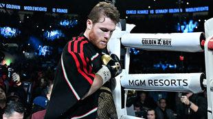 Saúl Álvarez previo a su pelea ante Gennady Golovkin