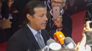 Matías Almeyda durante la presentación de la película de Chivas.