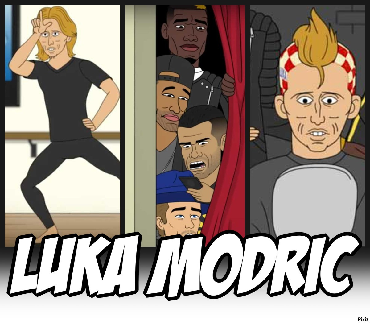 Las estrellas del fútbol mundial se la lían a Modric y le mutan en 'celebrity'