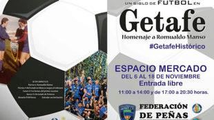 'Un siglo de fútbol en Getafe, homenaje a Romualdo Manso'