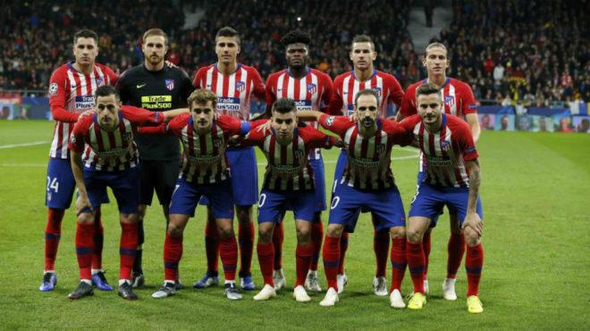Atletico Madrid's starting XI vs Dortmund