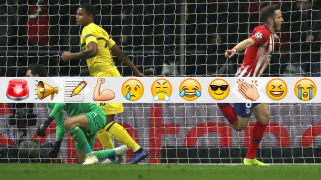Saul Niguez celebrates his goal