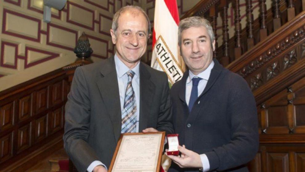 Amorrortu fue reconocido en el club por sus años de socio