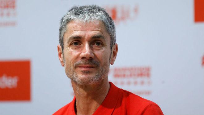 Martín Fiz, durante un acto