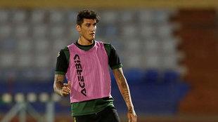 Peñalba volvió a ejercitarse con la UD Las Palmas.