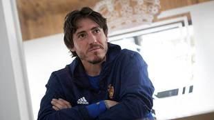 Cristian Álvarez, durante una entrevista reciente con MARCA