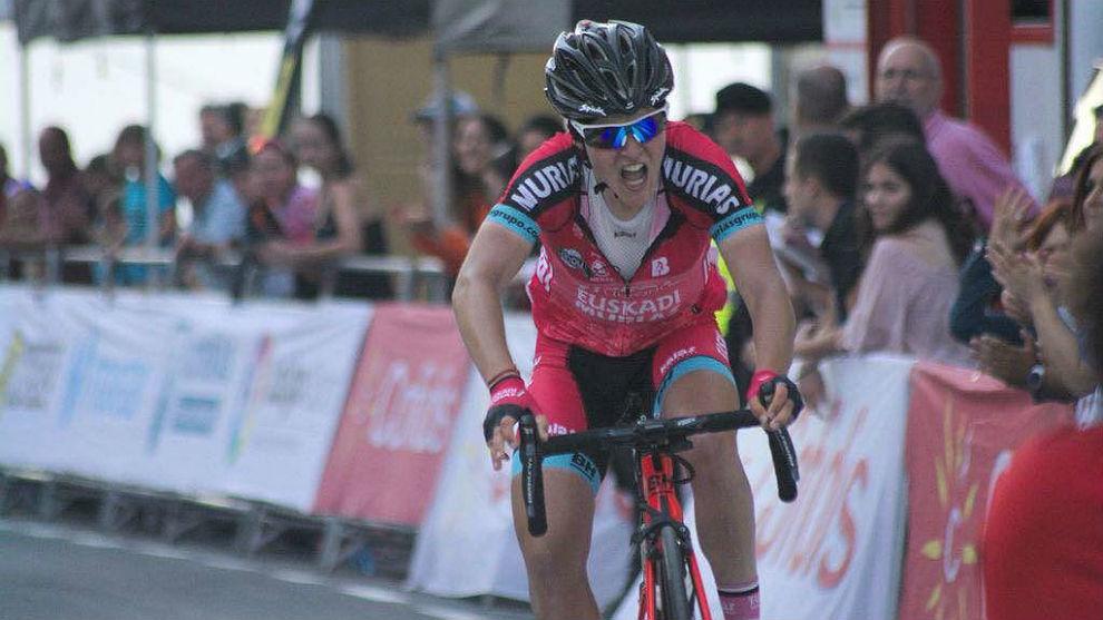 Cristina Martínez, en el pasado Giro Rosa.