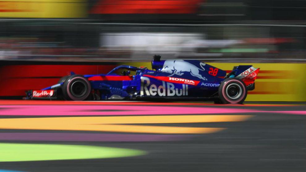 Hartley, en el GP de México, en el que terminó 14º.