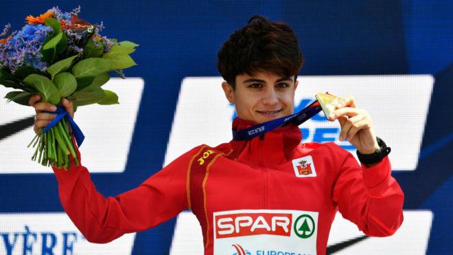 María Pérez, en el podio del Europeo