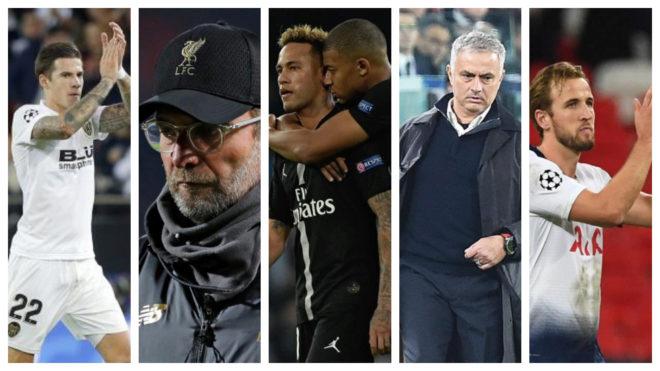 Santi Mina, Klopp, Neymar and Mbappe, Mourinho and Kane.