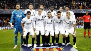 Equipo titular del Valencia frente al Youg Boys.