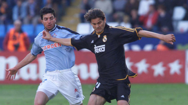 Santiago Hernan Solari, playing for Real Madrid, against Celta Vigo