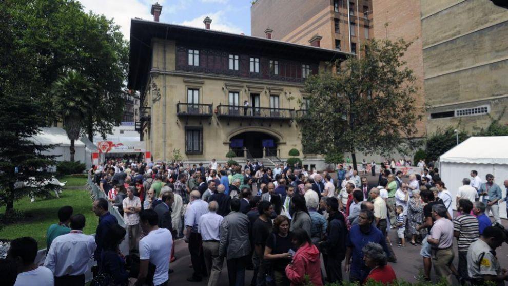El palacio de Ibaigane en las últimas elecciones del Athletic