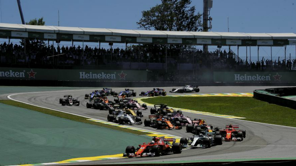 Salida del Gran Premio de Brasil 2017